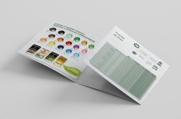 Square Trifold Mockup compostables